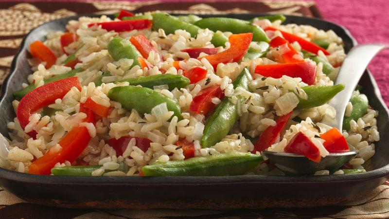 Sugar Snap Peas and Rice
