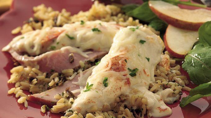 Chicken and Rice Cordon Bleu