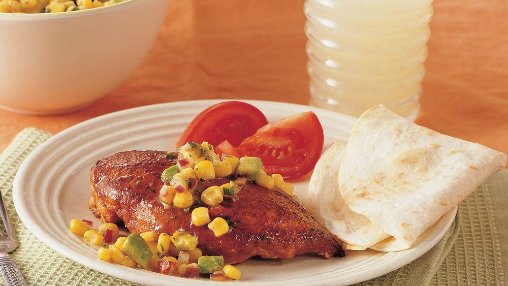Taco Chicken with Corn Salsa