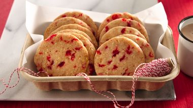 Cherry-Almond Refrigerator Cookies