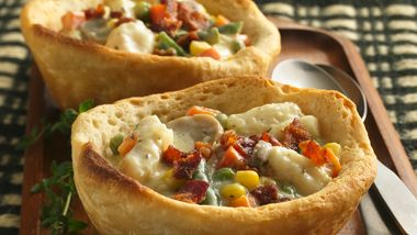 Catfish Stew in Biscuit Bowls
