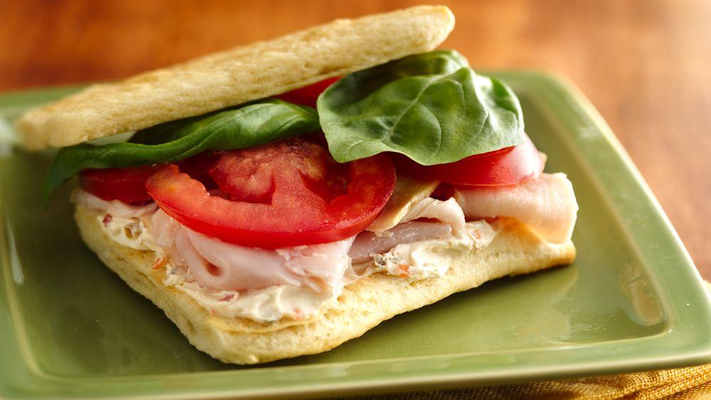 Mini Turkey-Basil Sandwiches