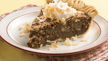 Coconut-Pecan Chocolate Pie