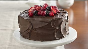 Berry-Topped Chocolate Cake