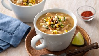 Southwestern Chili with Elote Topping