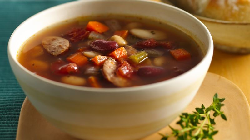 Easy Bean and Kielbasa Soup
