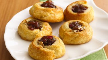 Blue Cheese and Red Onion Jam Crescent Thumbprints
