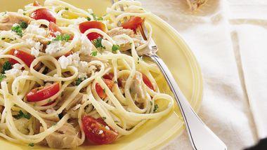 Linguine with Tuna and Tomatoes