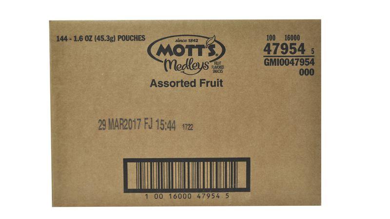 Mott's® Medleys Fruit Snacks Assorted Fruit (144 ct) 1 6 oz