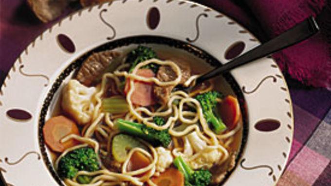 Stir-Fried Noodle Soup