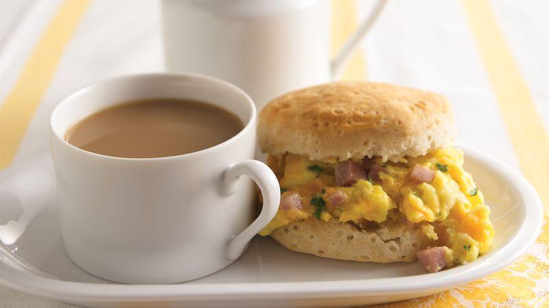 Eggs & Ham Biscuits