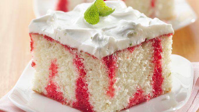 Cherry Limeade Poke Cake