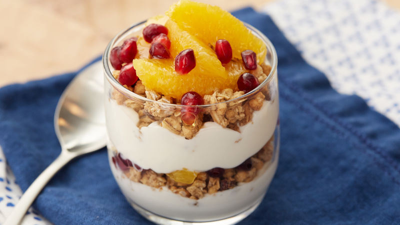 Winter Fruit Protein Parfait