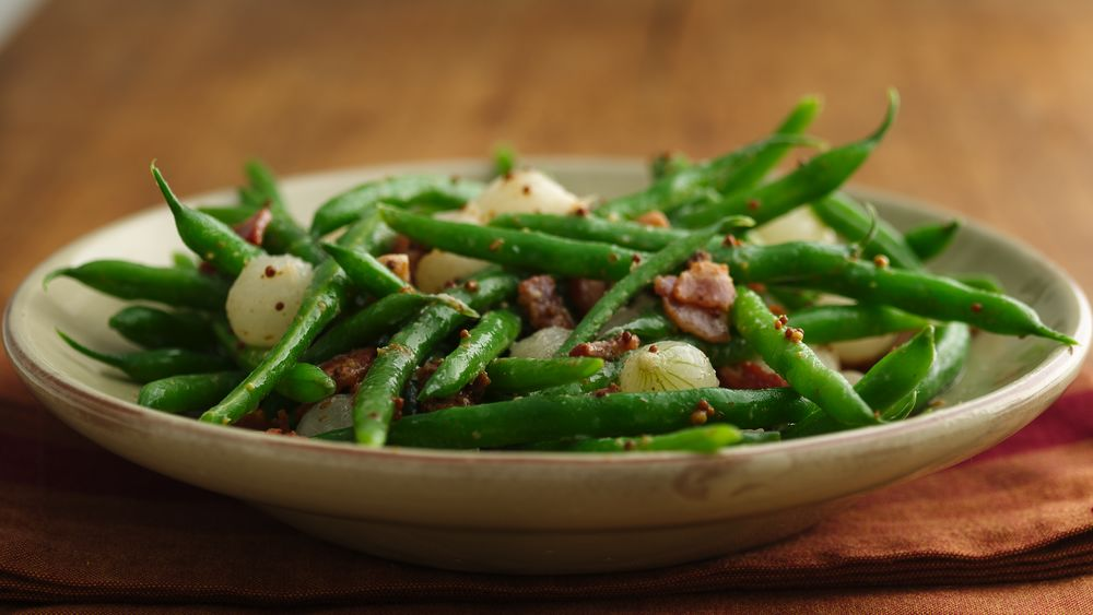 Caramelized Pearl Onions with Green Beans and Brussels Sprouts forecast