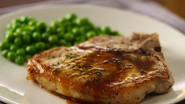 Panfried Pork Chops with Cider Sauce