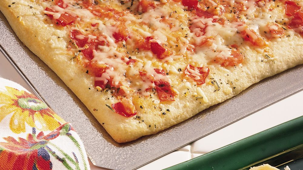 Quick and easy herb flatbread recipe from for Fresh tomato lasagna with olive tapenade