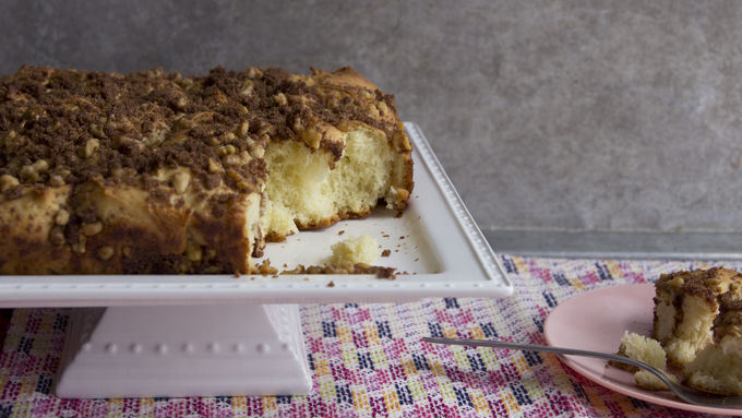 Double-Quick Cinnamon Streusel Coffee Bread