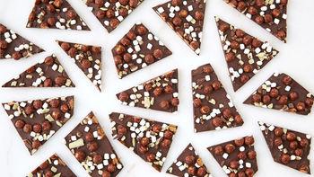 Peppermint Hot Cocoa Bark