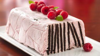 Frozen Chocolate Wafer Raspberry Torte