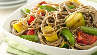 Sesame Ginger Grilled Vegetables and Soba Noodles