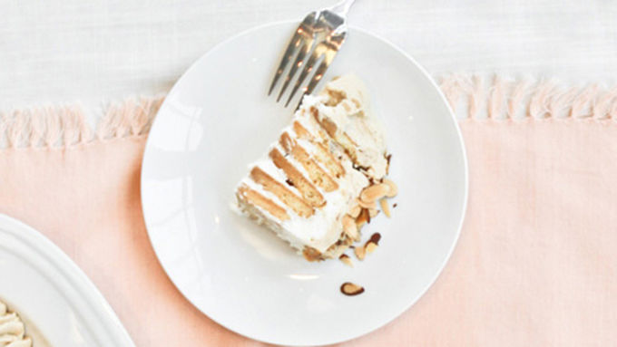 Almond Espresso Ice Box Cake