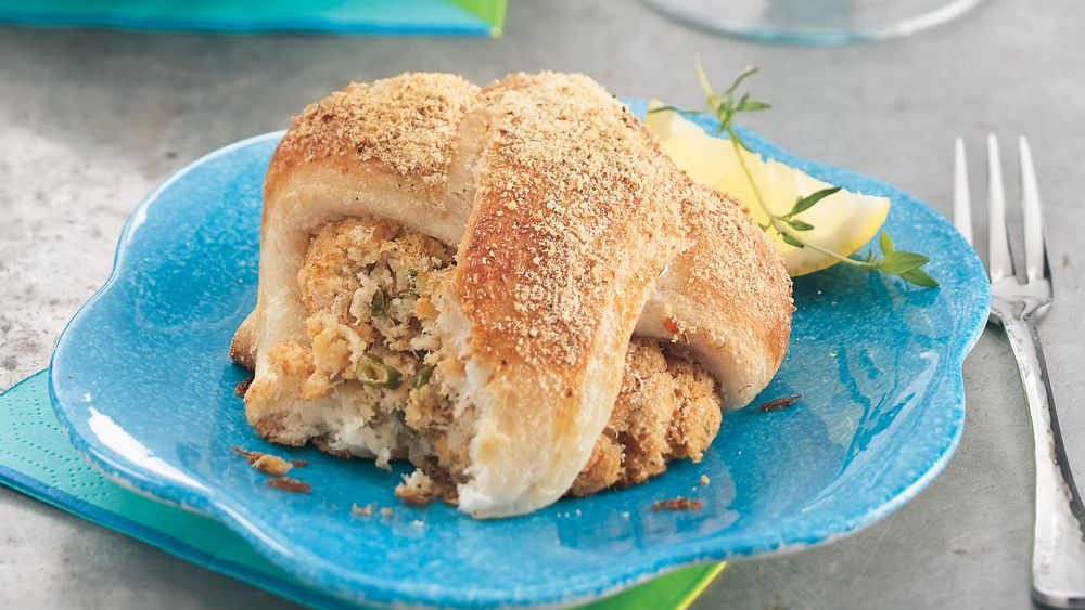 Deviled Crab and Cheese Rolls