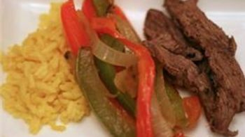 Fajita Beef and Vegetables over Rice