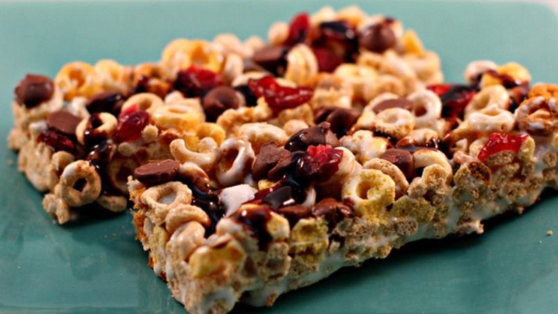 Barritas de Cereal con Fresas y Chocolate