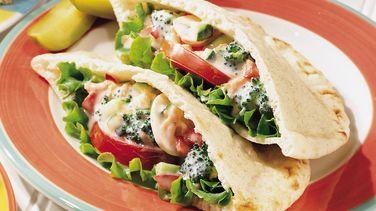 Middle Eastern Layered Pita Sandwich