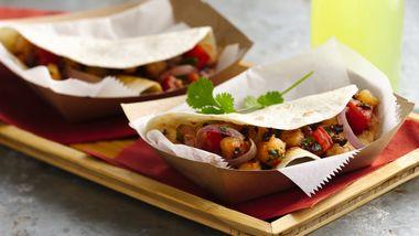 Shrimp and Pasilla Chile Tacos
