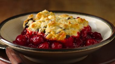Gluten-Free Chocolate Chip Cherry Cobbler