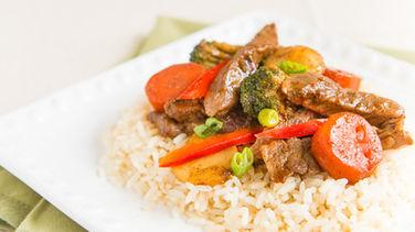 Beef Teriyaki with Rice