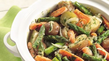 Slow-Cooker New Potatoes and Spring Vegetables