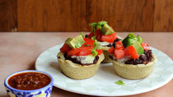 Black Bean Tamale Cups with Chipotle Salsa