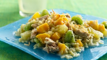 Tropical Fruit, Rice and Tuna Salad