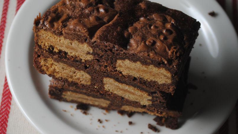 Barras de Brownie con Mantequilla de Maní