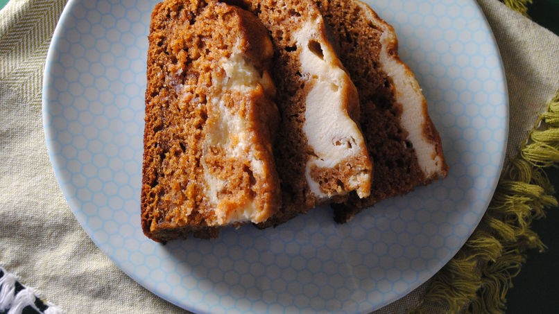 Pumpkin and Cream Cheese Breakfast Bread