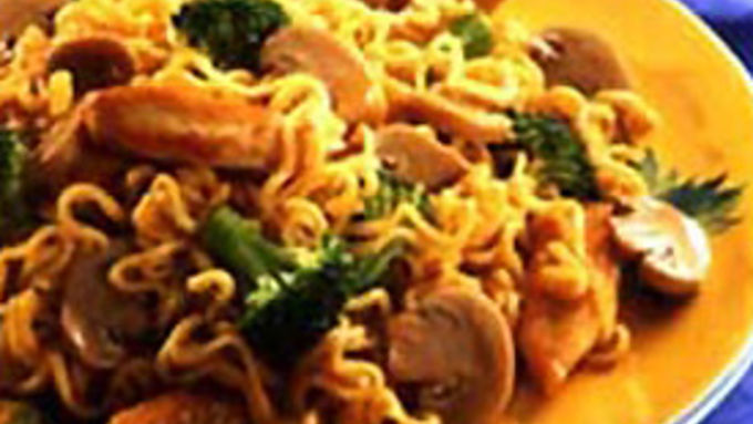 Mushrooms and Chicken with Ramen Noodles recipe - from ...