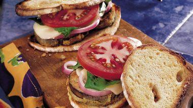 Eggplant and Basil Sandwiches
