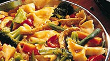 Szechuan Pork and Pasta Stir-Fry