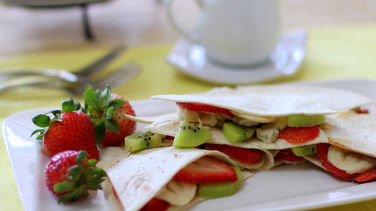 Fruit and Gorgonzola Quesadillas