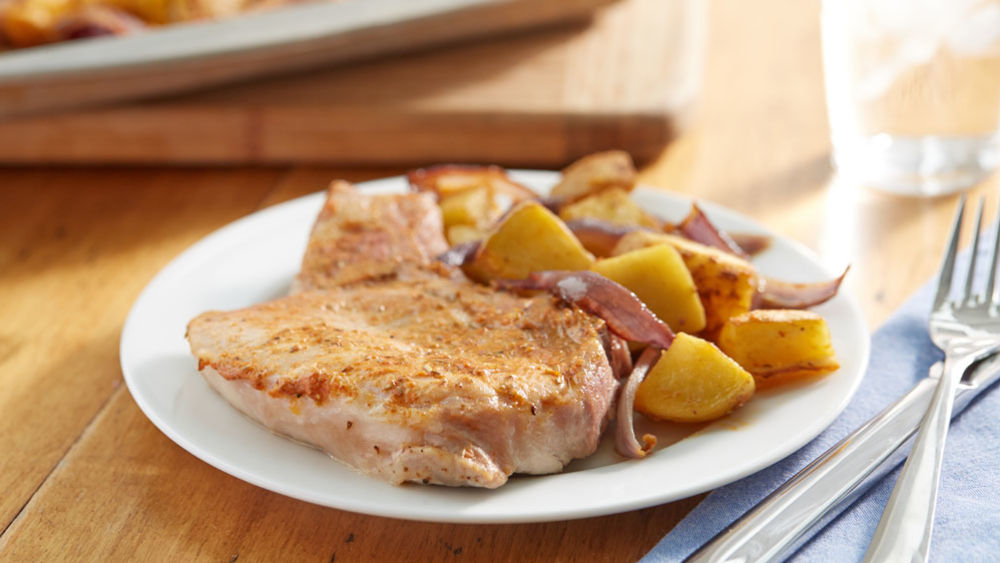 Roasted Rosemary Pork Chops and Potatoes