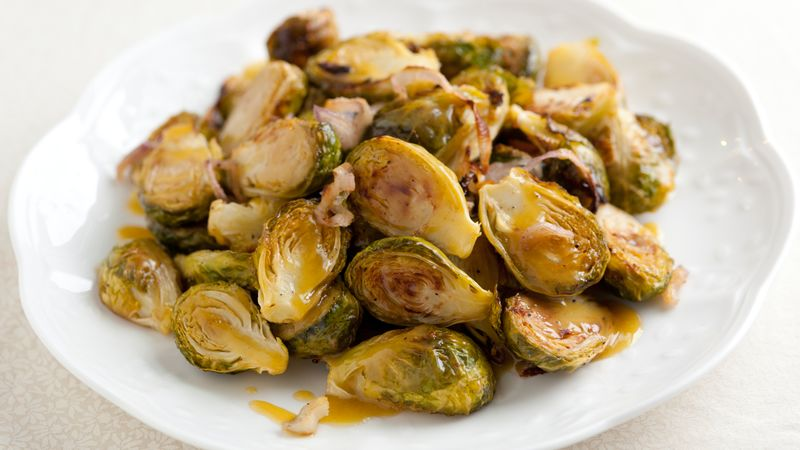 Caramelized Brussels Sprouts in Mustard Vinaigrette recipe ...