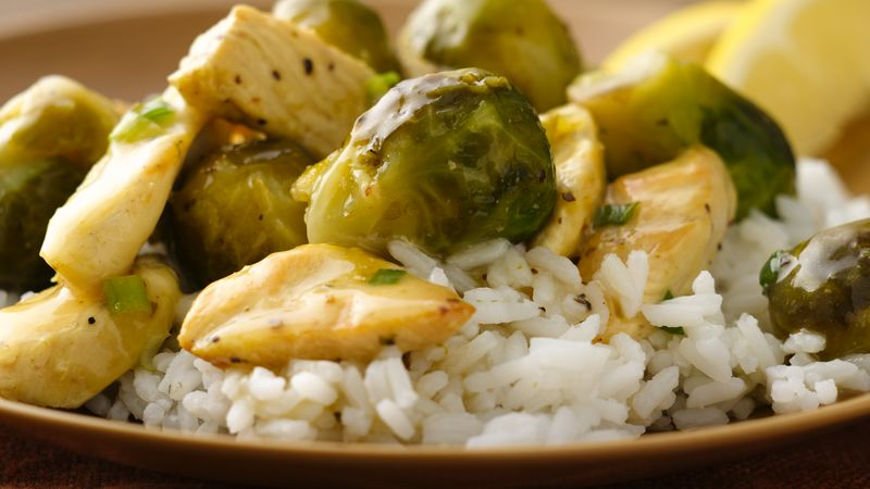 Spicy Lemon Chicken with Brussels Sprouts