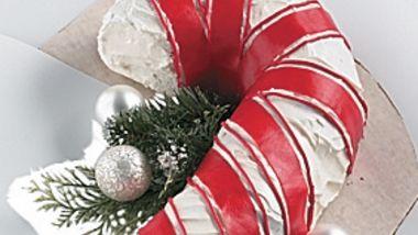 Holiday Candy Cane Cake