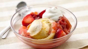 Strawberry-Rhubarb Crescent Shortcakes
