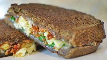 Chorizo Spinach Artichoke Grilled Cheese