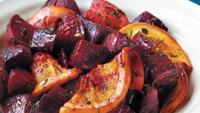 Roasted Beets and Oranges with Herb Butter