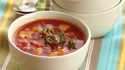 Sopa de Jitomate y Pimiento Morrón