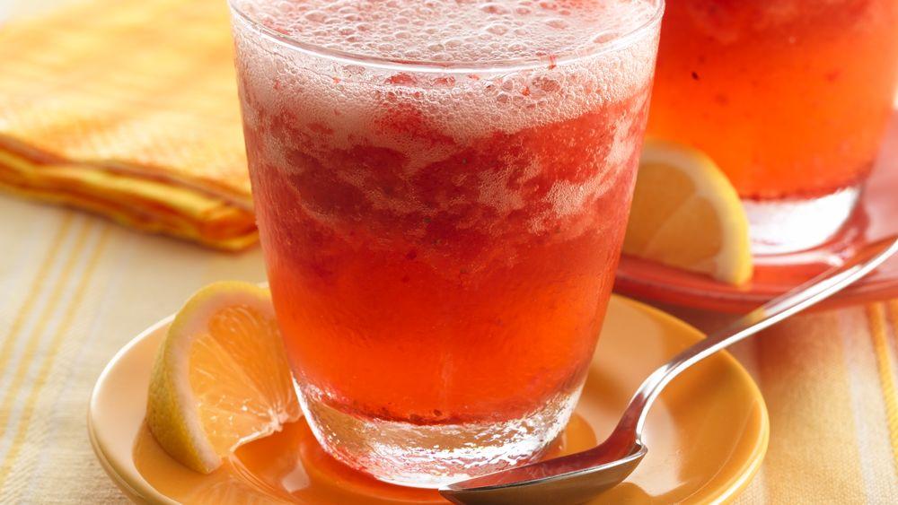 Sparkling Strawberry-Lemonade Slush